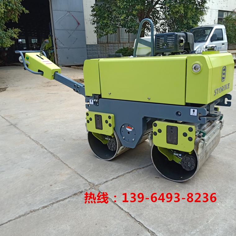 福建深圳带刹车器手扶压路机安全系数高的双钢轮滚筒式压路机沥青回填土小型  压路机